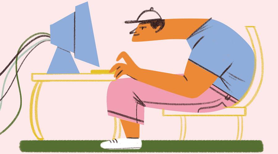 компьютерная шея
