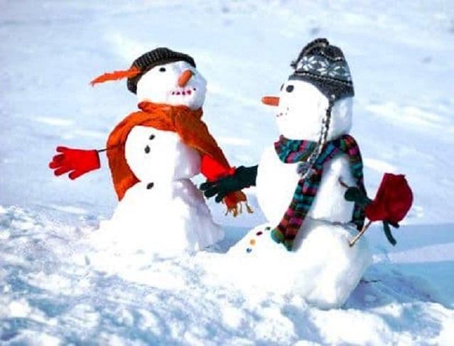 выходные, снеговики