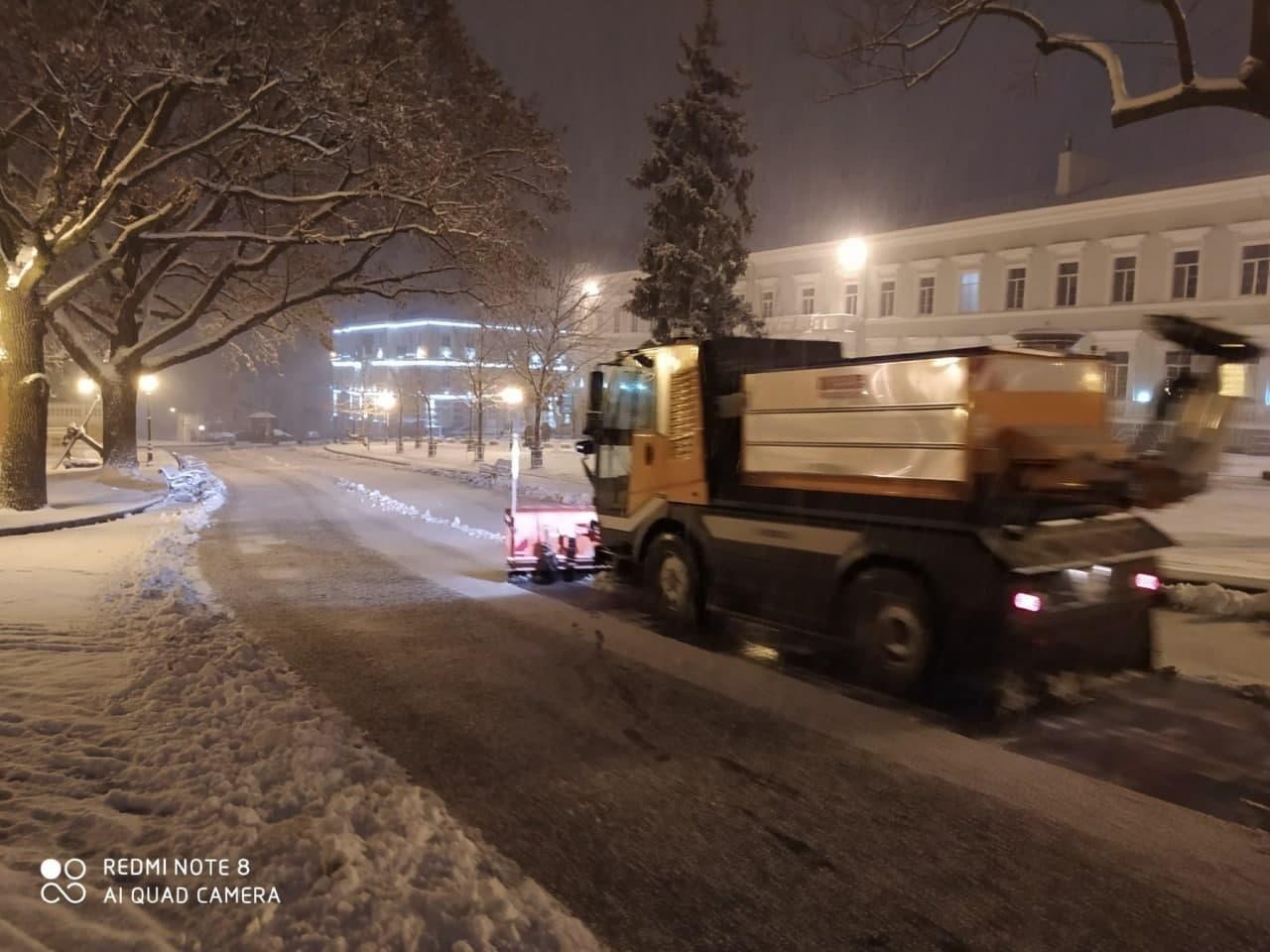 снегоуборочный процесс