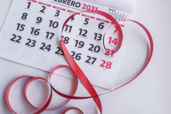 календарь февраль 2021