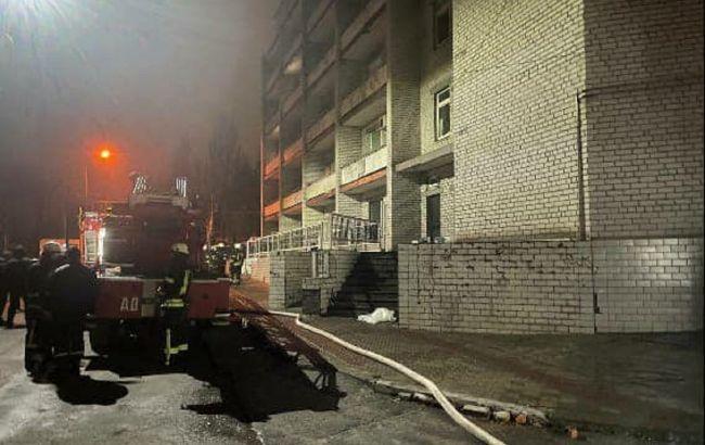 Пожар в больнице Запорожья