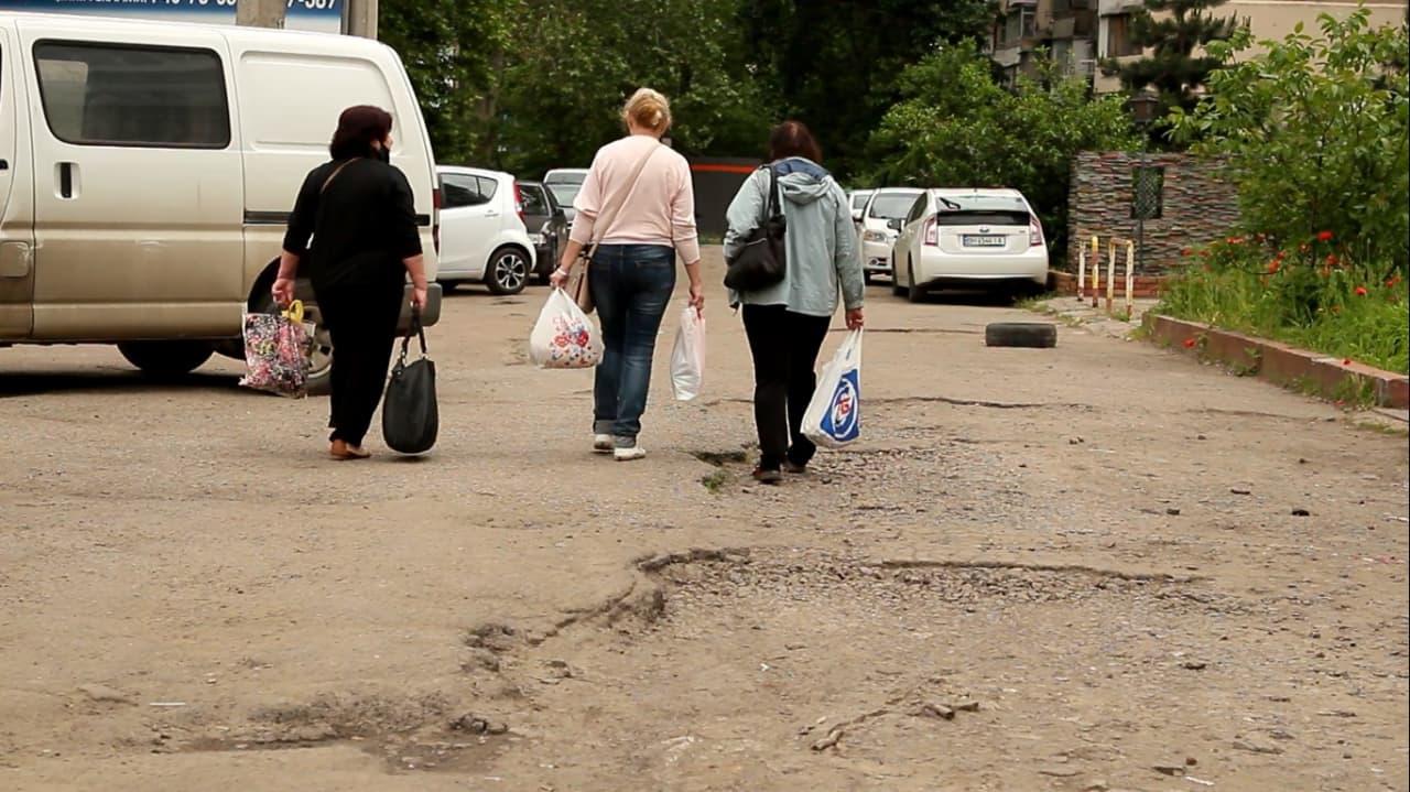 Варненская тротуар